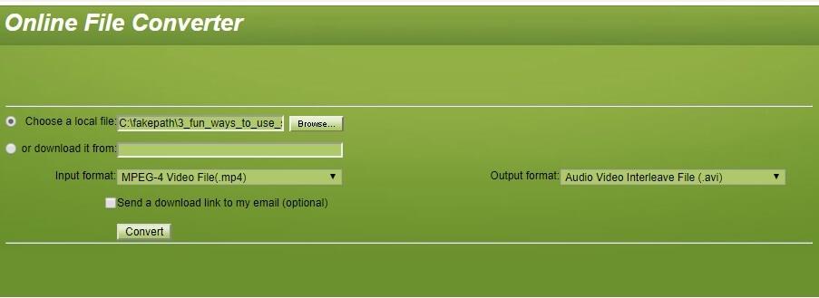 convertfiles online video compressor