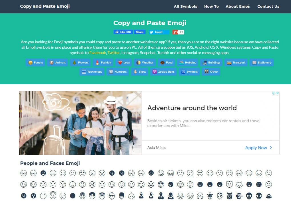 copy and paste emoji website