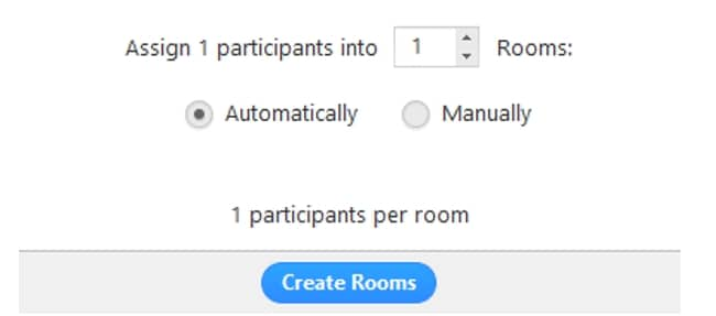 Create  Breakout Rooms in Zoom