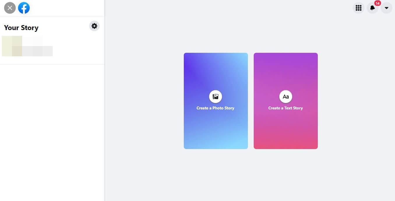 Create Facebook Story