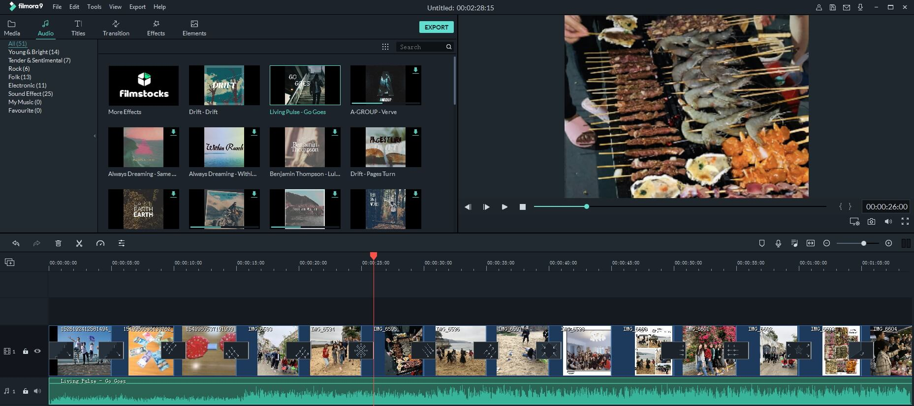 Create music slideshow with Filmora9