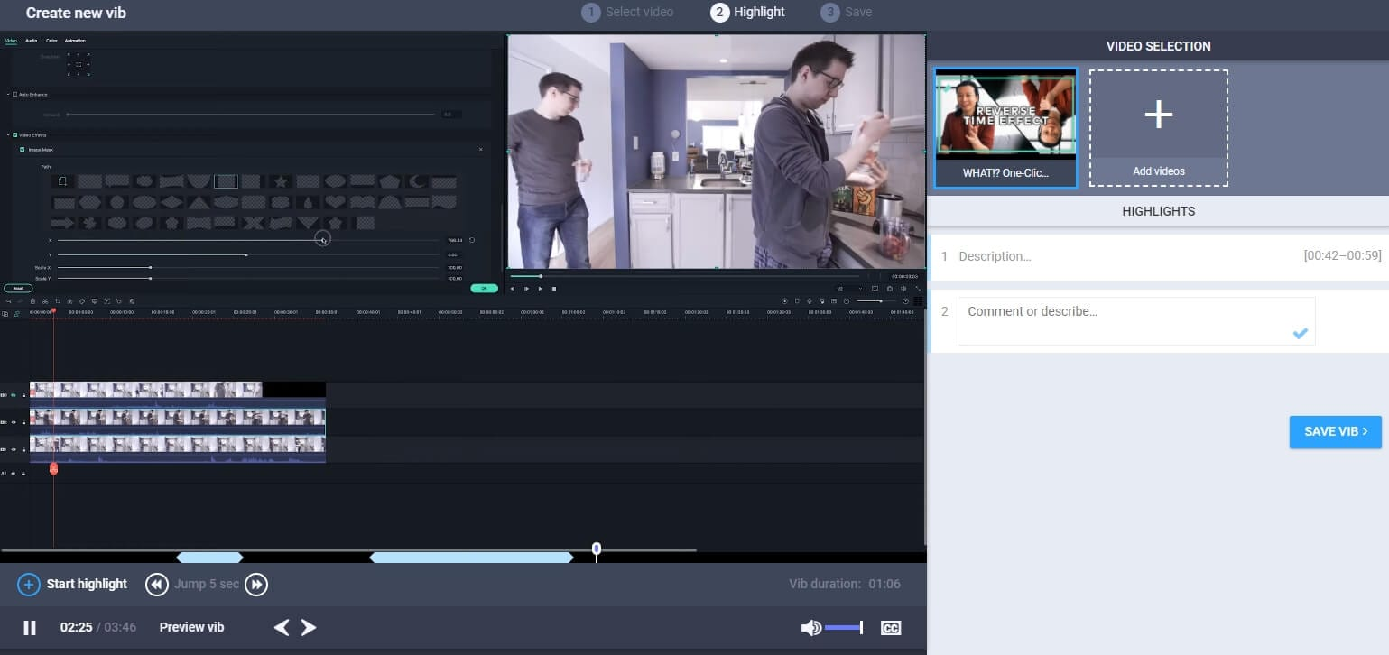 Create Highlight Video with Vibby