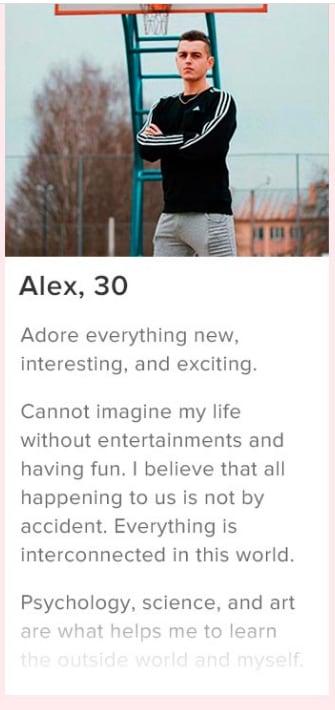 Profile text best tinder Swipe Life
