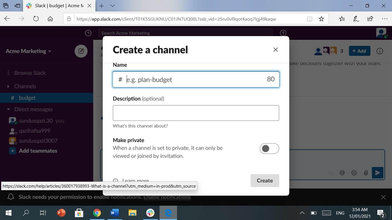 Custom Channel Name