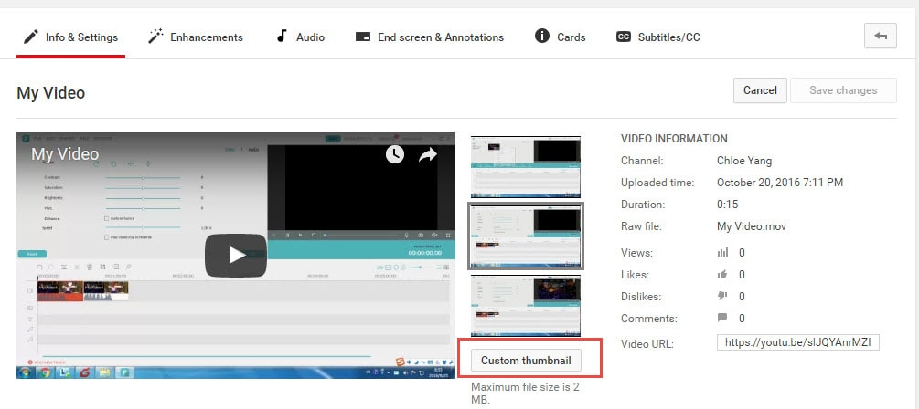 create custom youtube thumbnails