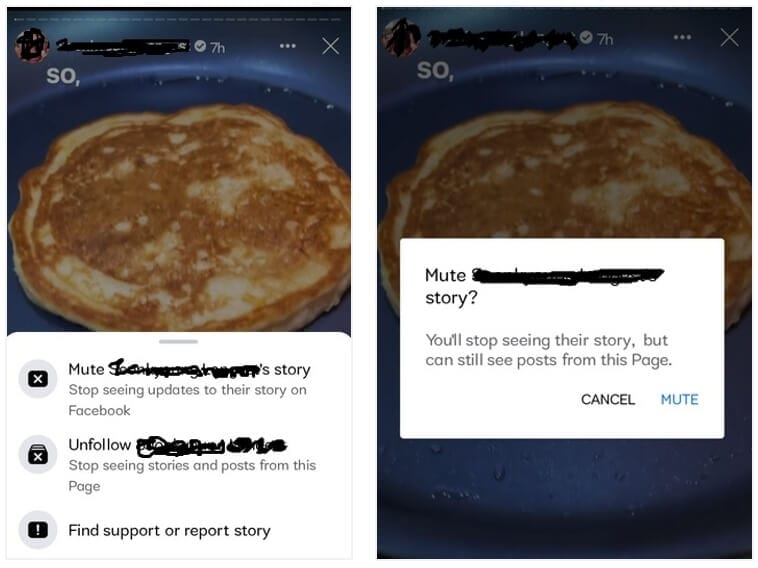 delete other's Facebook Story