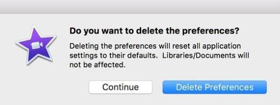 delete preferences