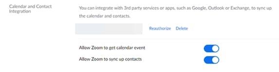 Delete Synced Zoom Calendar