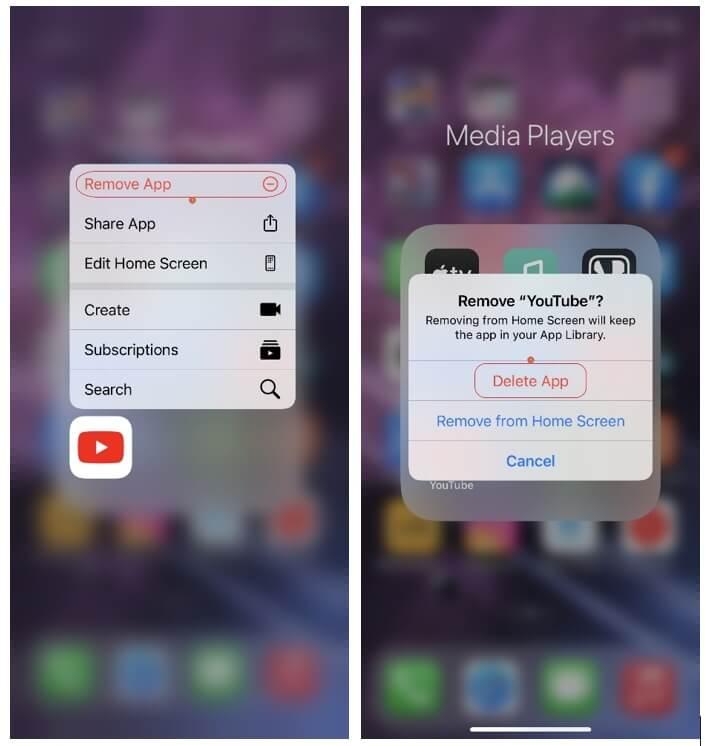 fix YouTube black screen on iPhone