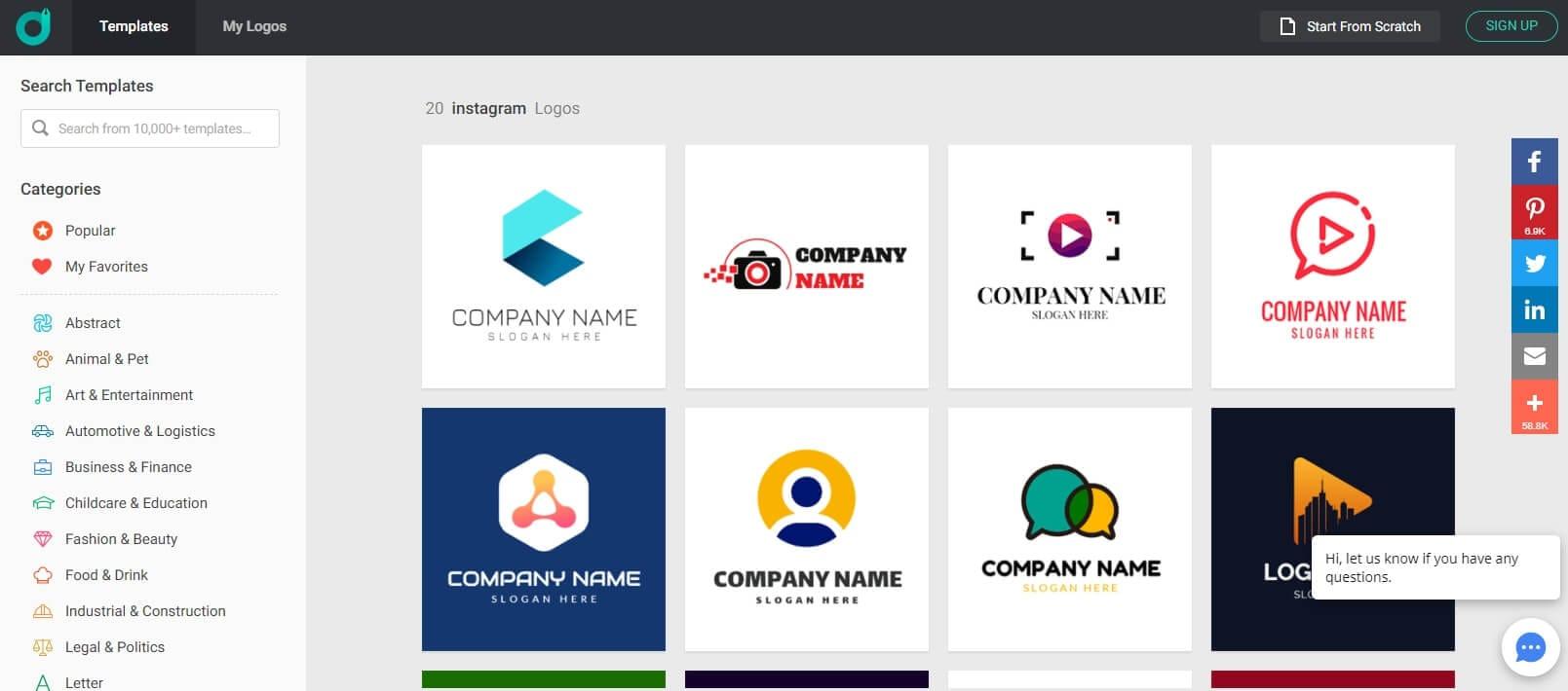 DesignEvo Online Instagram Highlight Cover Maker
