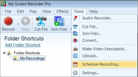 Schedule Recording