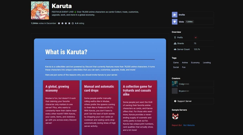 Discord  Karuta Bot