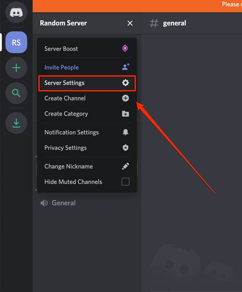 Discord Server Settings Options