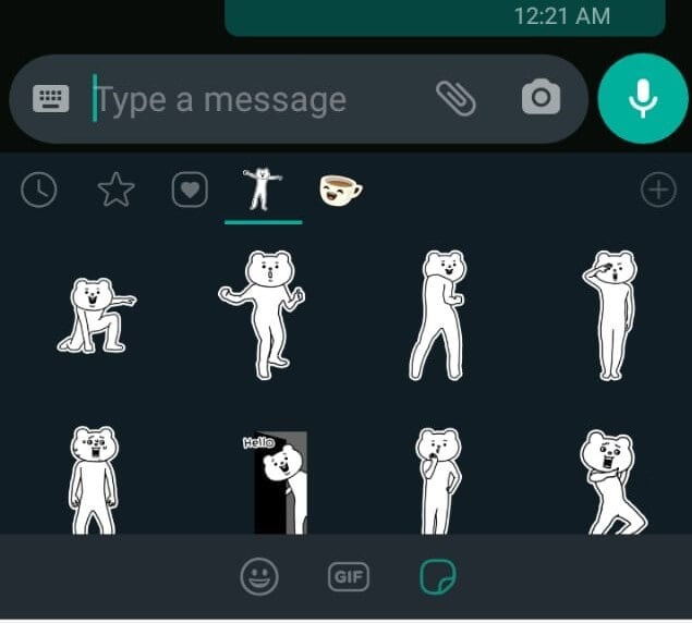 Display Whatsapp Sticker