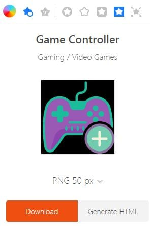 Donwload Gaming Logo Icon  on Icons8