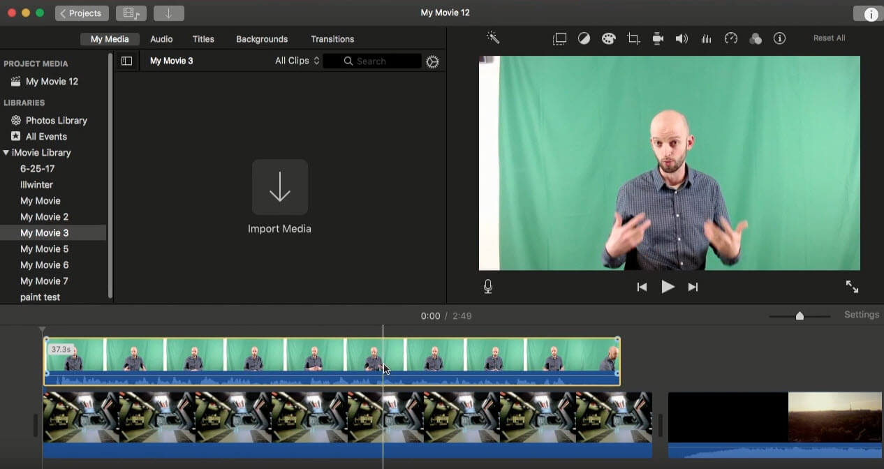 How to Use Green Screen in iMovie