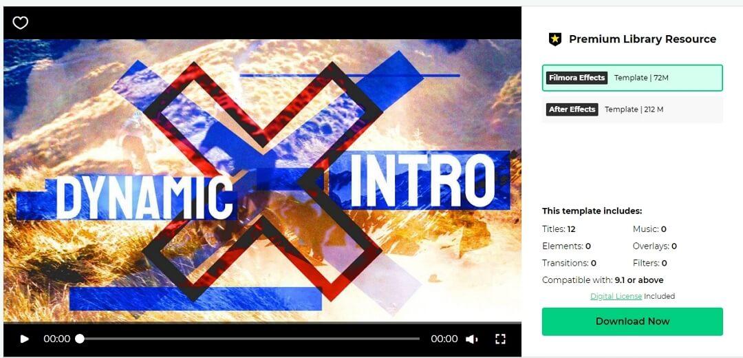 Filmstock Dynamic Intro
