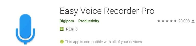 Vocie Recorder App for Android - Easy Voice Recorder Pro