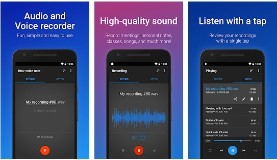 Easy Voice Recorder Pro Interface