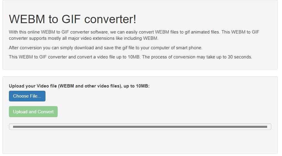 EasyOnlineConverter WebM para GIF