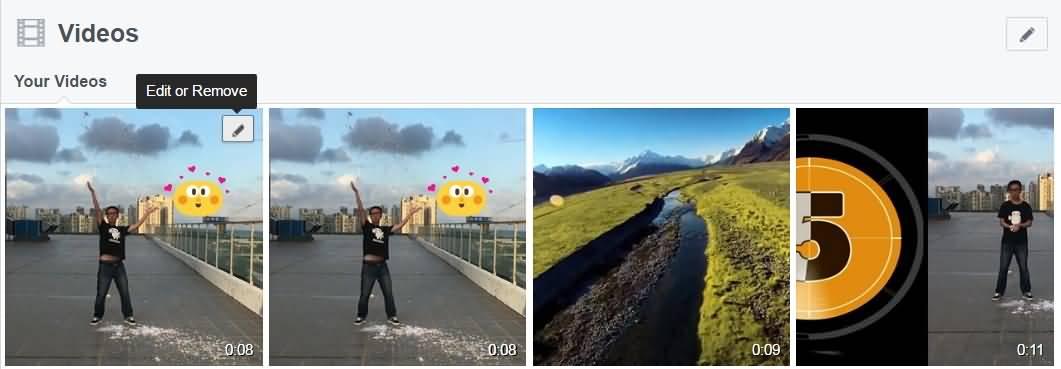 editar botón de video de facebook