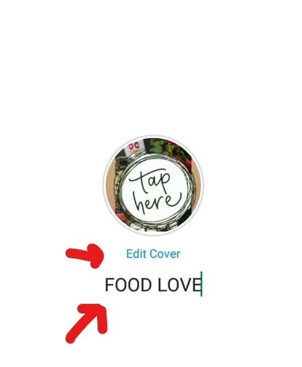 edit instagram highlight cover