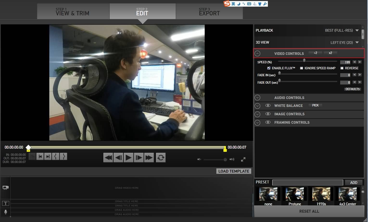 GoPro Studio Edit Interface