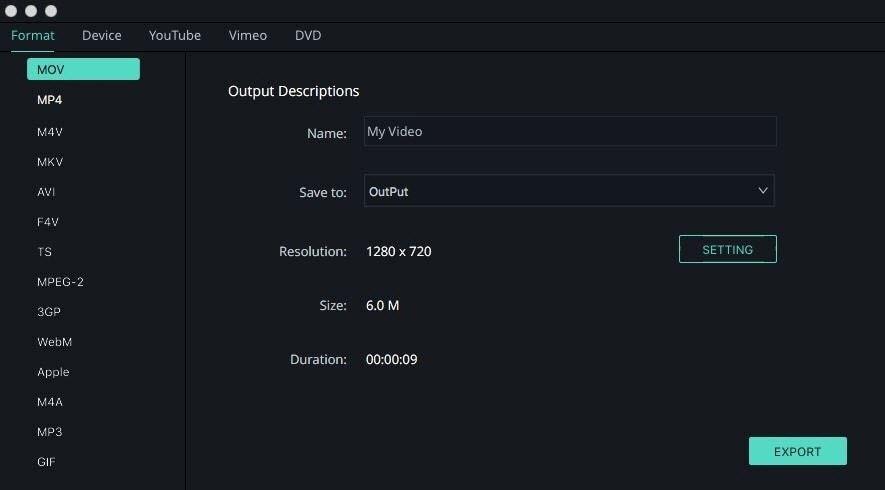 export video with Filmora