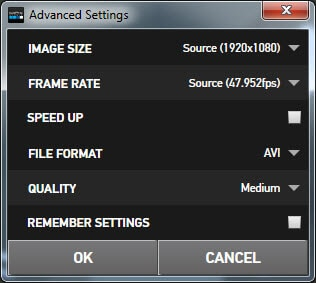 Change video settings in gopro studio