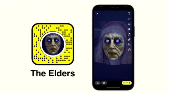 Most popular Snapchat filters and lens - The Elders