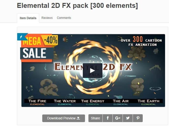 Elemental 2D VFX from Videohive
