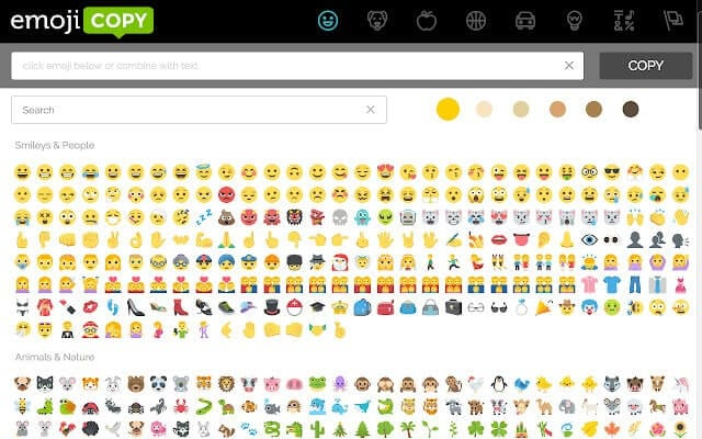 emoji copy website