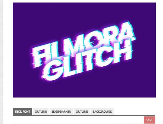 Glitch text effect generator