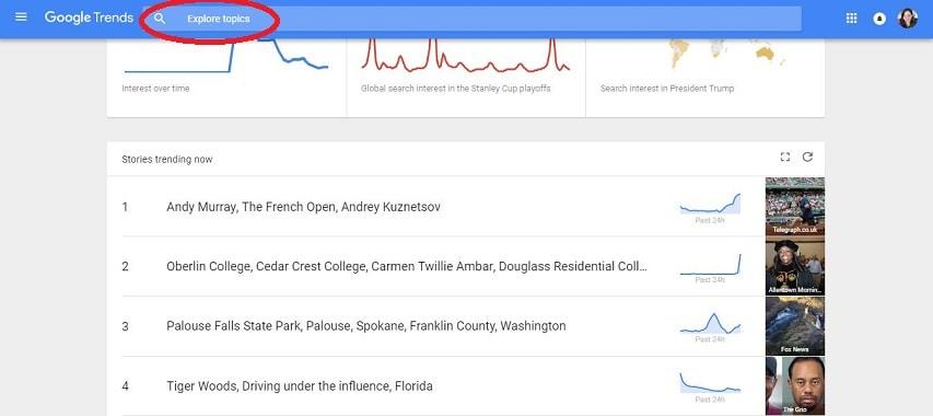 Google Trends Keywords YouTube Video