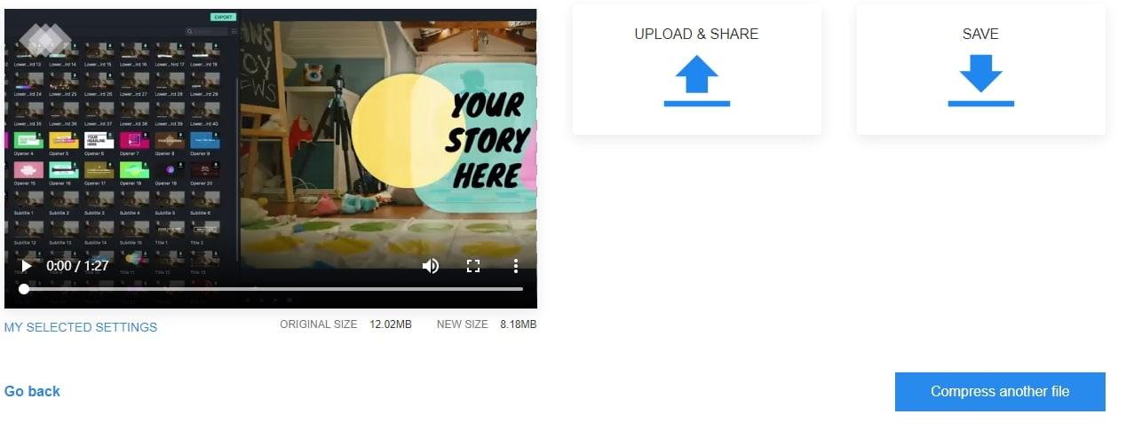 exporter le recadrage de vidéo en ligne