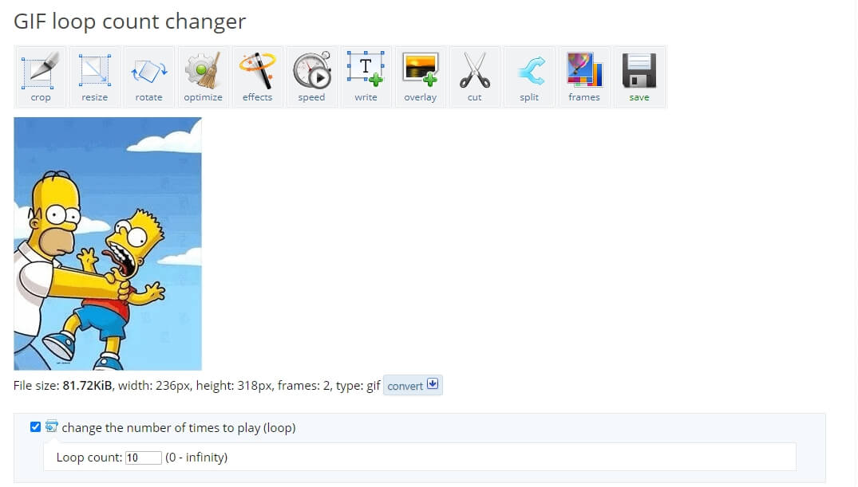 EZGIF GIF  Loop Count Changer