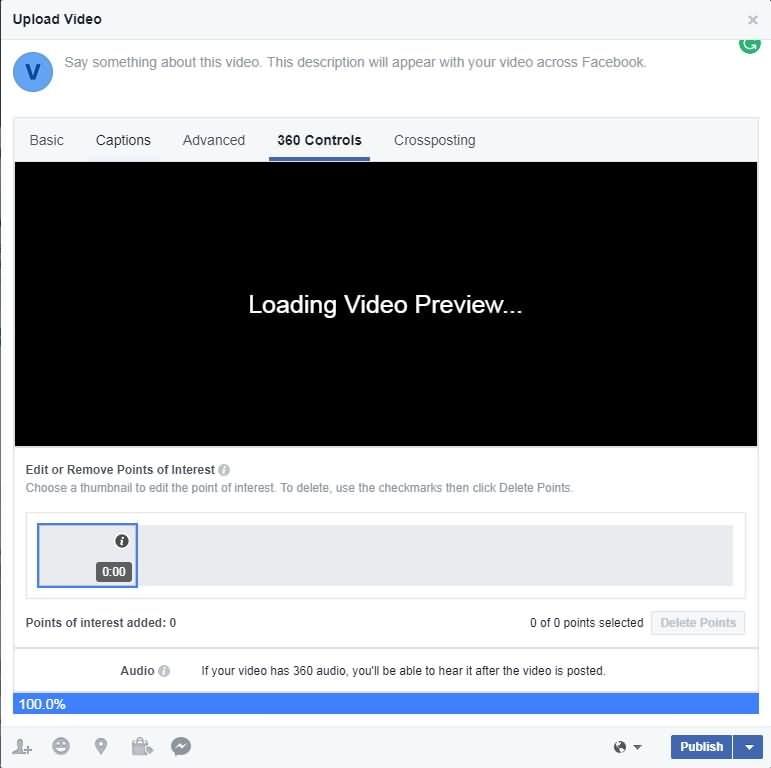 Facebook 360 Controls