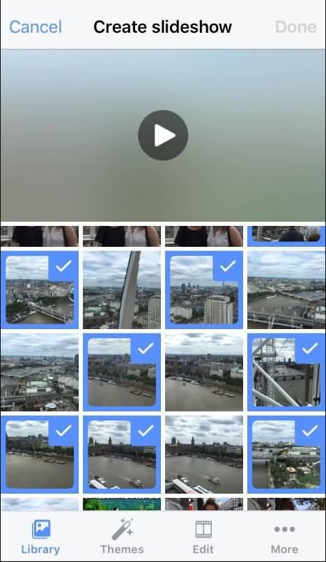 facebook slideshow library