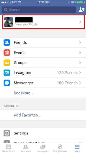 facebook view profile