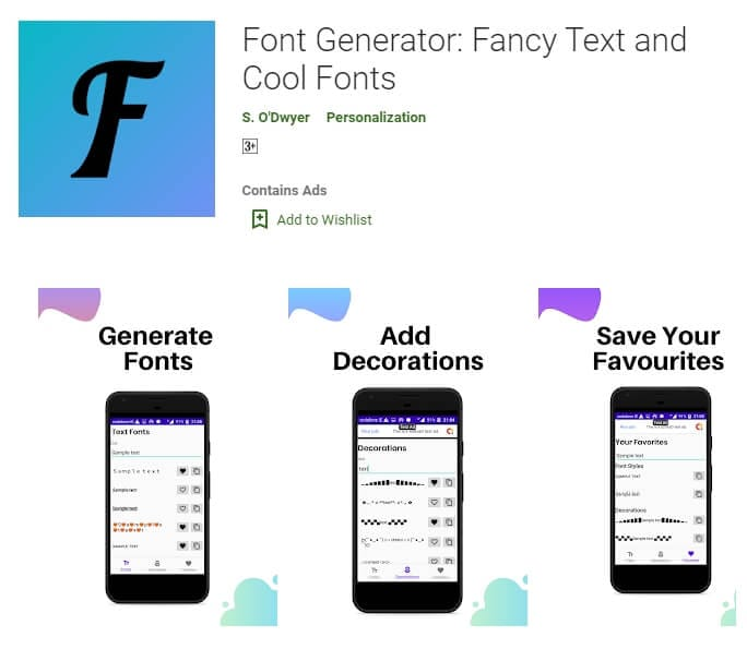 Font Generator for Discord Android
