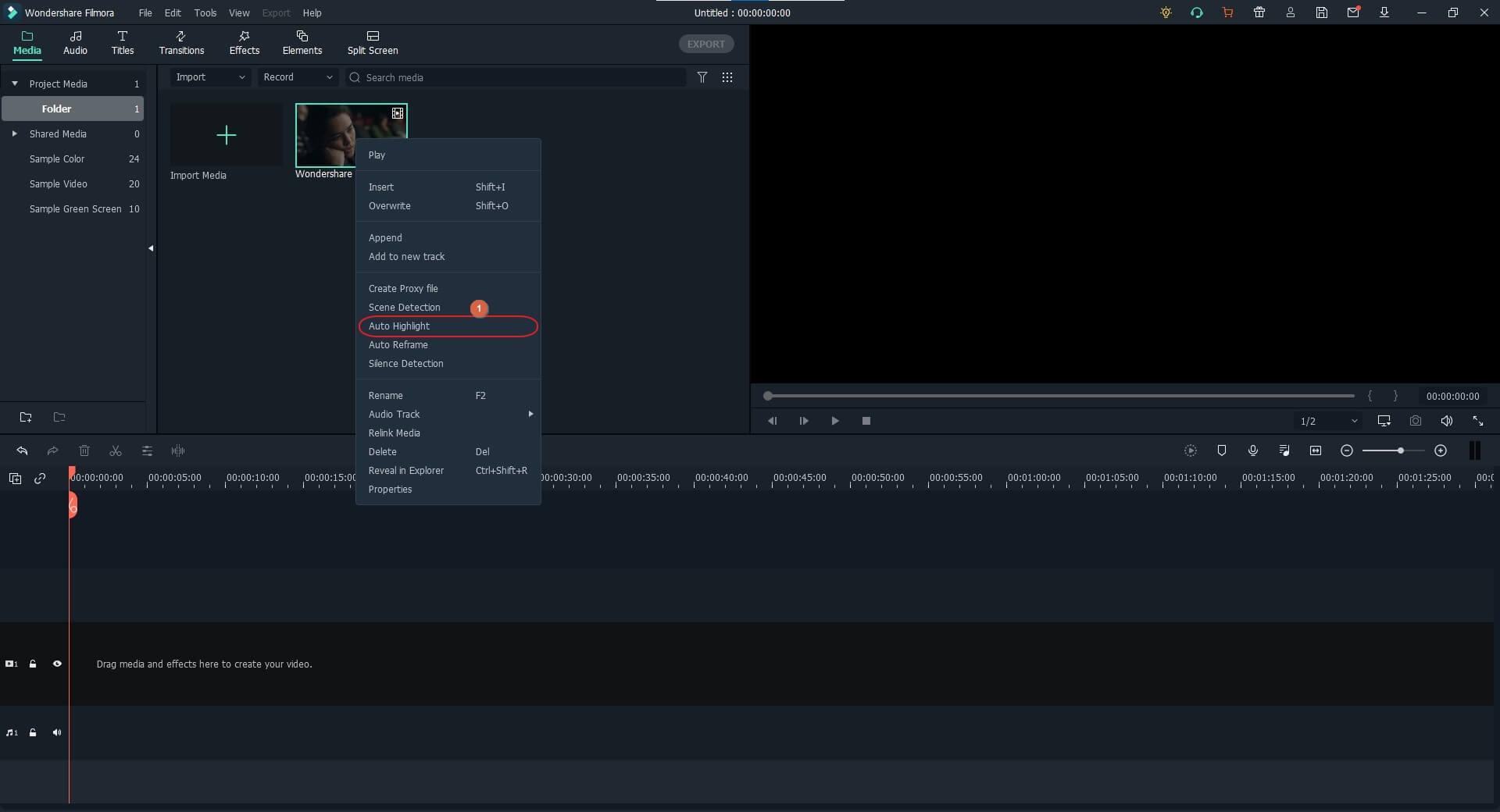 Make highlight video - import method 3