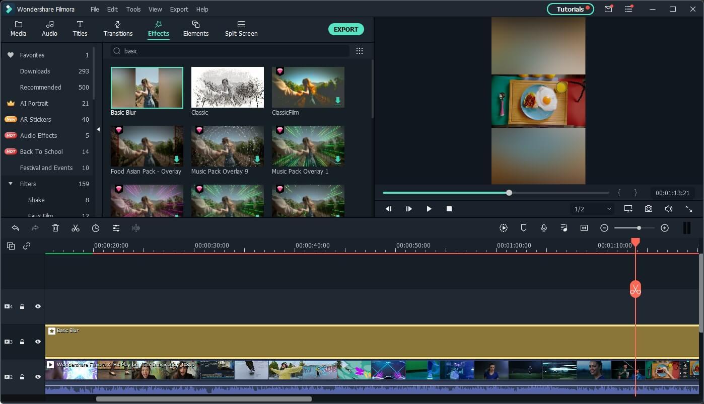 Filmora  convert YouTube to IGTV
