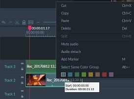 Filmora Scrn audio editing
