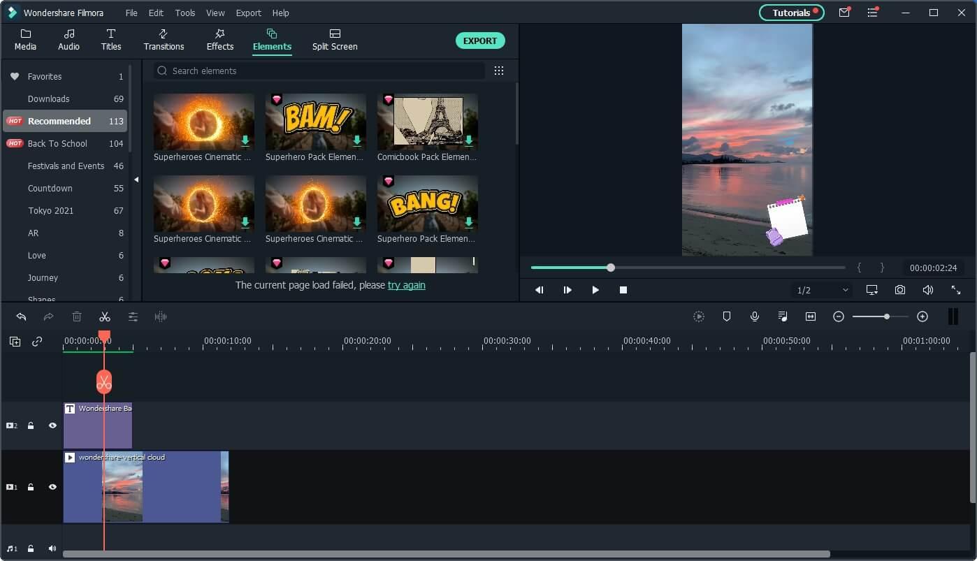 Filmora Vertical Video Editing