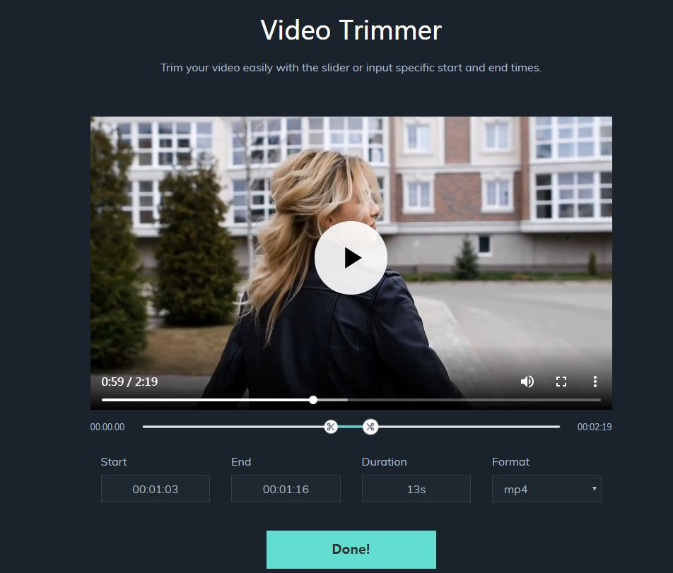 filmora video trimmer