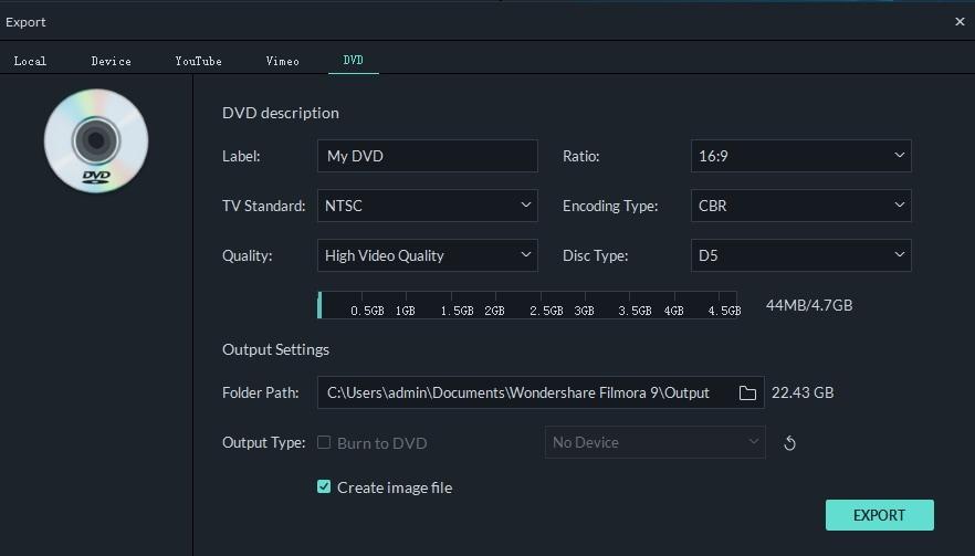 burn video to dvd in Filmora9