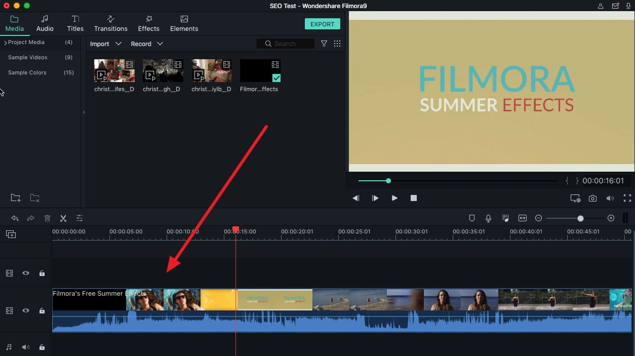 capture video frames load clip in timeline