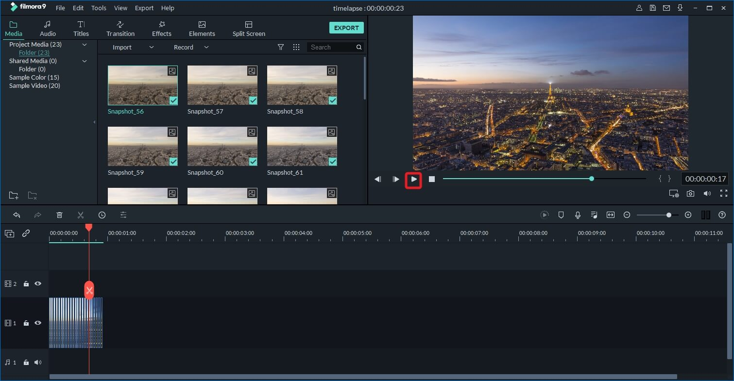 free software to create time lapse video