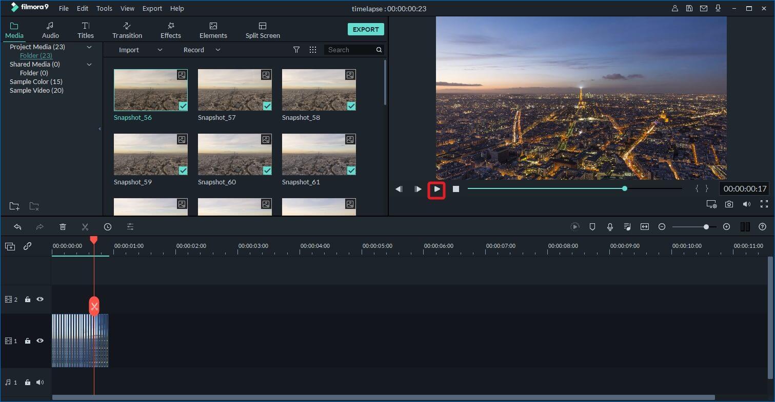 فيديو الإطار الزمني المصنوع بواسطة Filmora9