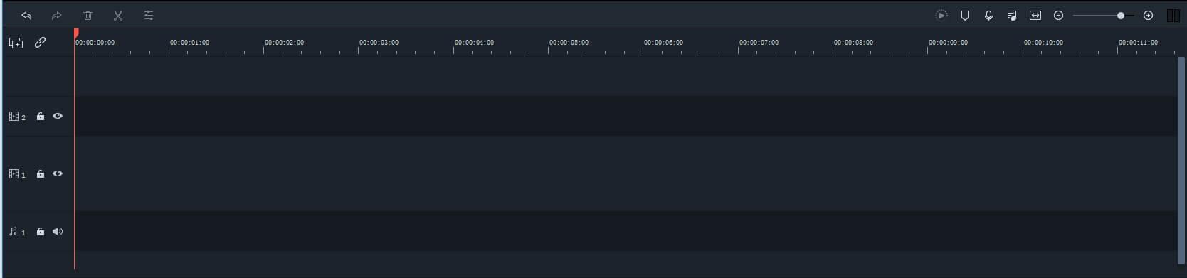 Filmora9 timeline preview